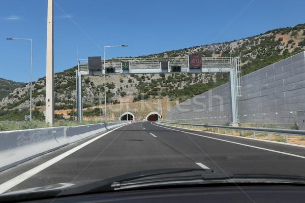 Autostrada tunnel ingresso salonicco movimento auto Foto d'archivio © simazoran
