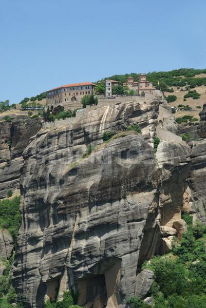 Monastère magnifique Grèce montagne église Photo stock © simazoran