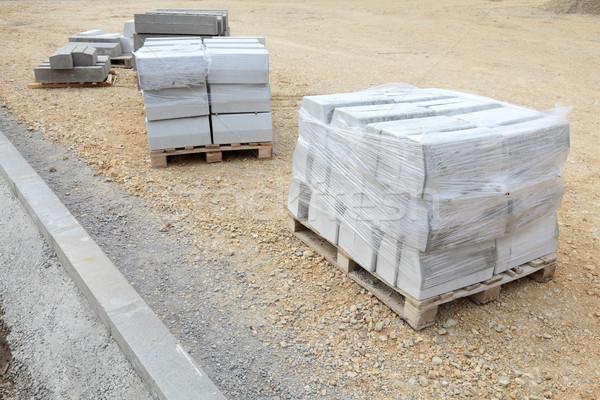 út útépítés helyszín útszéli kövek sóder Stock fotó © simazoran