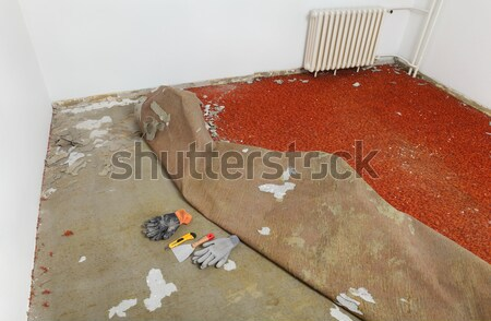Home renovation, carpet remove Stock photo © simazoran