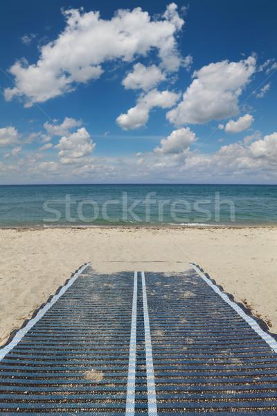 Sabbia spiaggia Grecia piedi percorso bella Foto d'archivio © simazoran