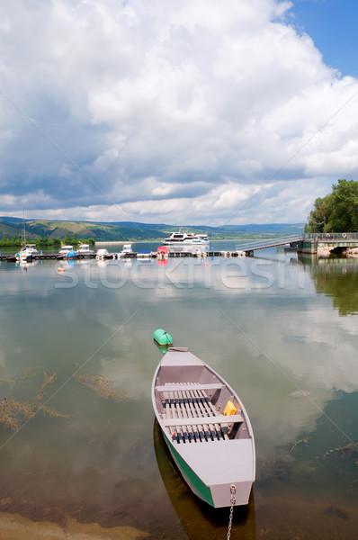 Danúbio barcos prata lago rio fronteira Foto stock © simazoran