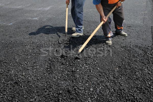 Işçiler takım yol yapımı yol Bina çalışmak Stok fotoğraf © simazoran