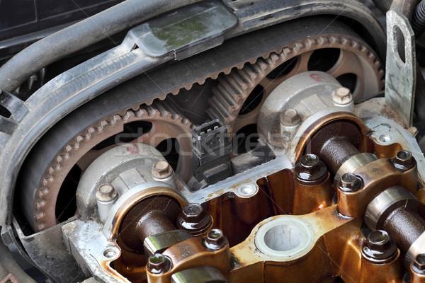 Autóipari autó gép fej kettő technológia Stock fotó © simazoran