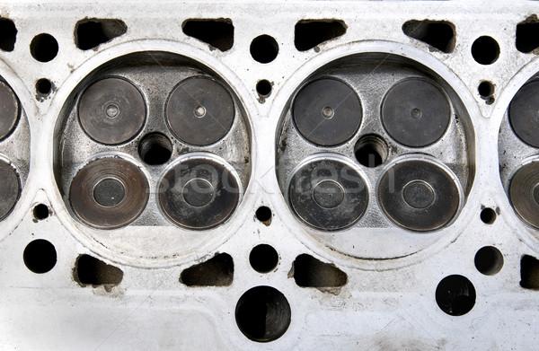 Valvola testa auto motore quattro cilindro Foto d'archivio © simazoran
