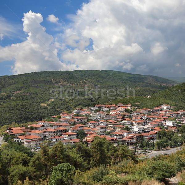 Nuovo Grecia nubi natura montagna verde Foto d'archivio © simazoran