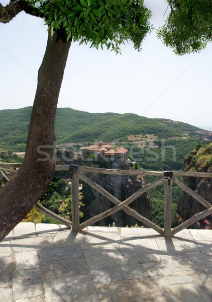 Monastero view Gesù montagna Foto d'archivio © simazoran