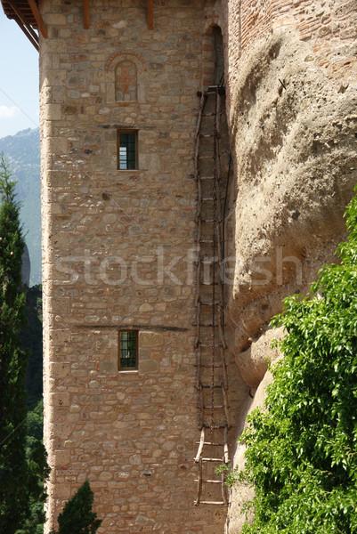 Monastère échelle entrée magnifique Grèce Photo stock © simazoran