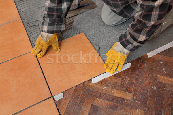 Home renovation, tiles Stock photo © simazoran