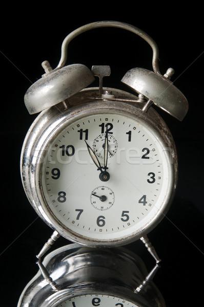 öreg óra poros fém fekete gyűrű Stock fotó © simazoran