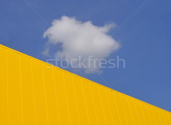 Modern bina gökyüzü yeni sarı Metal panel Stok fotoğraf © simazoran