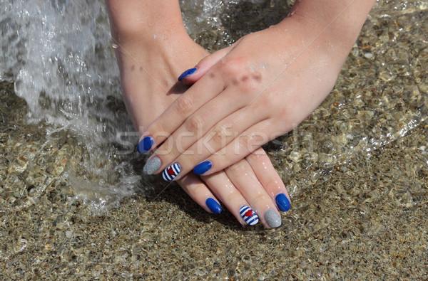 Beauty treatment of fingernails, manicure Stock photo © simazoran