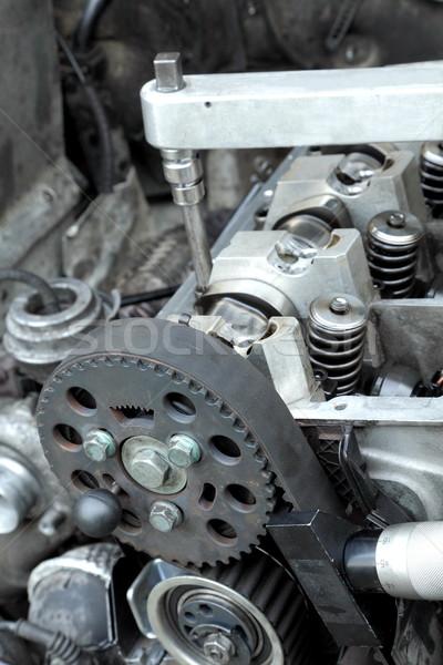 Moder engine repairing Stock photo © simazoran