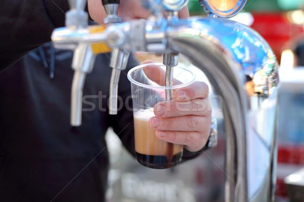 Stockfoto: Bier · festival · donkere · plastic · glas