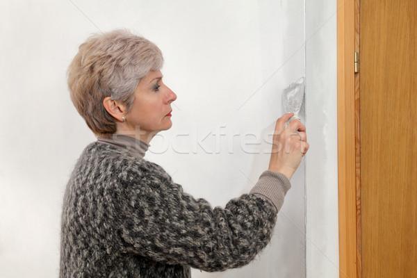 女性 ワーカー 石膏 壁 女性 ストックフォト © simazoran