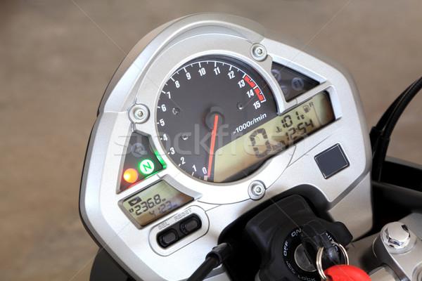 Motocicleta foto moderno painel de instrumentos acelerar Foto stock © simazoran