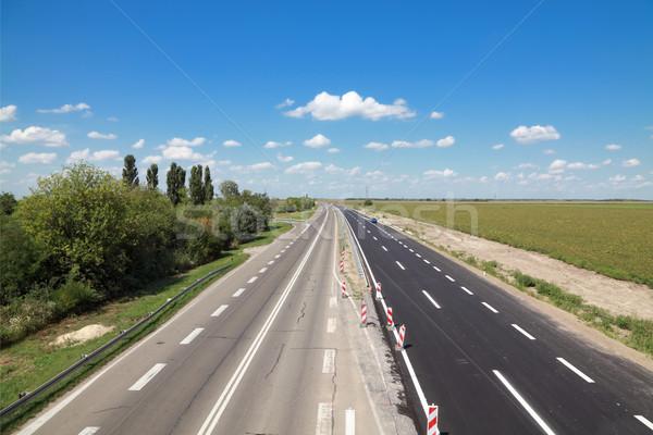 Karayolu yol yapımı yeni eski inşaat manzara Stok fotoğraf © simazoran