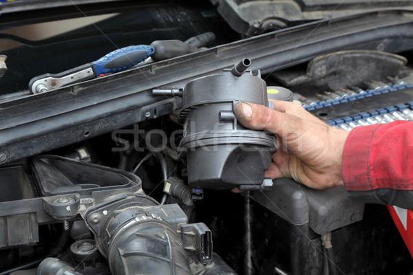 Automotive auto meccanico carburante filtrare moderno Foto d'archivio © simazoran