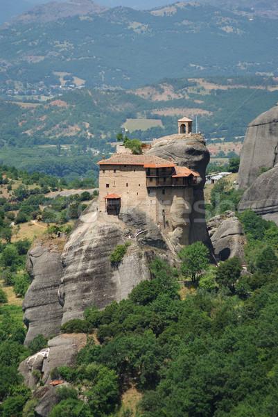 Monastère saint magnifique Grèce montagne Photo stock © simazoran