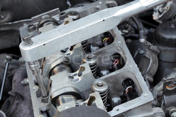 Modern engine repairing Stock photo © simazoran