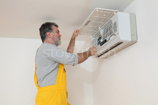Air condition examine or install Stock photo © simazoran