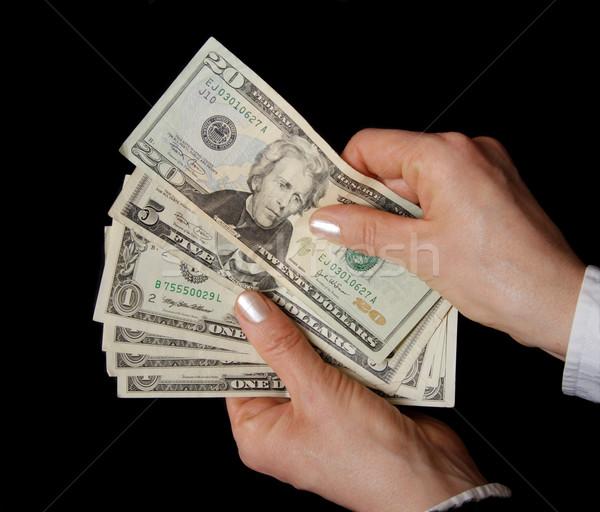 Ceny kobieta ręce Dolar Zdjęcia stock © simazoran