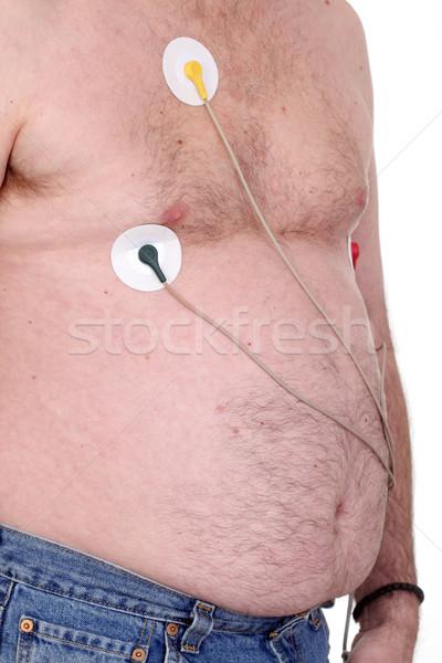 心電図 白人 男 着用 モニター 中心 ストックフォト © simazoran