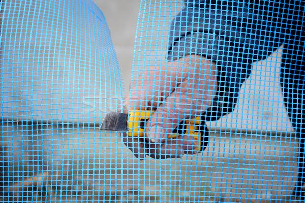Home lavoratore mani taglio Foto d'archivio © simazoran