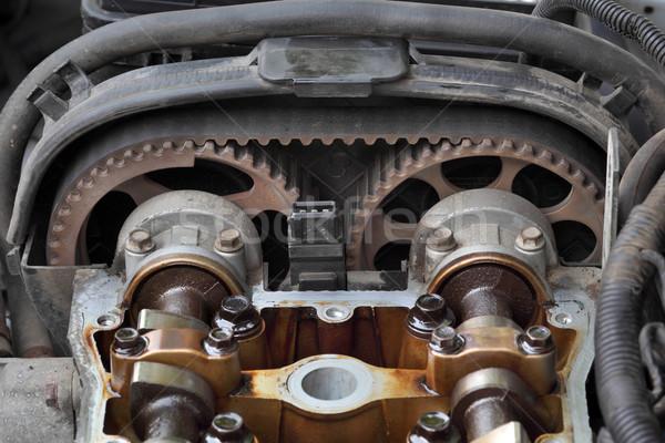 ストックフォト: 自動車の · 車 · エンジン · 頭 · 2 · 技術