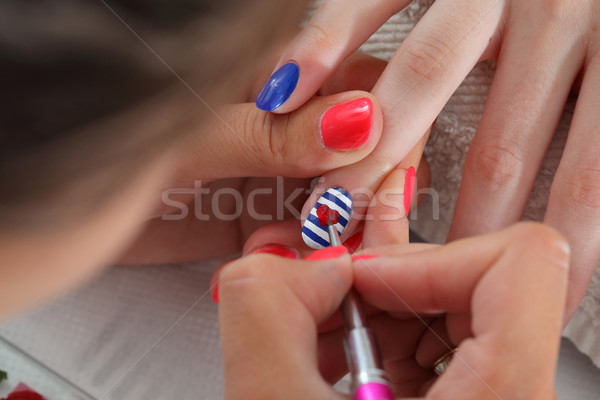 Beauty treatment of fingernails Stock photo © simazoran