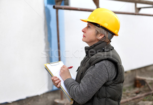 Inspector at construction site Stock photo © simazoran