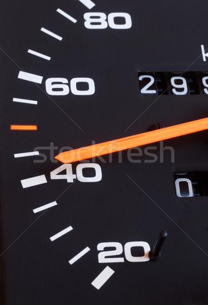 Hızlandırmak araba turuncu siyah beyaz Stok fotoğraf © simazoran