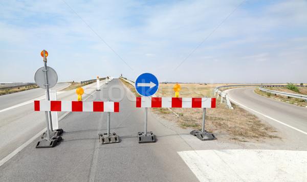 Road construction Stock photo © simazoran