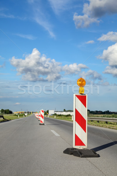 Road construction site Stock photo © simazoran
