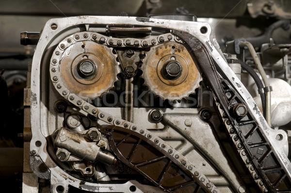 車 エンジン 詳細 ギア チェーン ストックフォト © simazoran