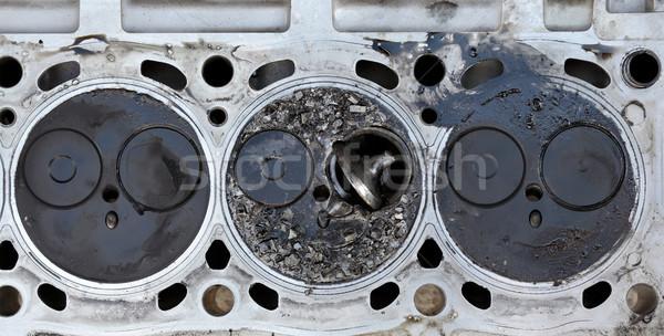 Törött szelep autó gép henger fej Stock fotó © simazoran