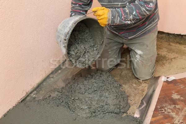 Home beton werknemer bouw Stockfoto © simazoran