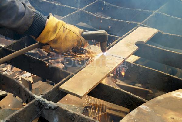 Plasma métal recyclage équipement construction Photo stock © simazoran