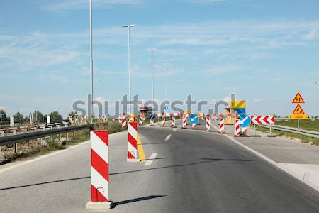 шоссе реконструкция дорожных знаков строительство работу безопасности Сток-фото © simazoran