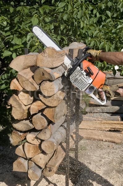 Wood cutting Stock photo © simazoran