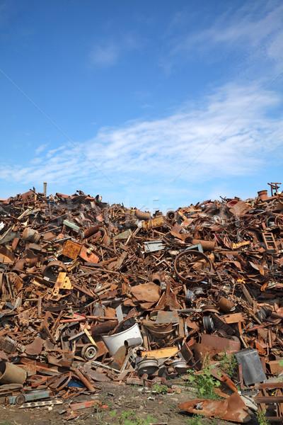 Recycling industrie hoop oude metaal klaar Stockfoto © simazoran