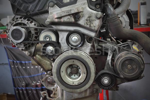 Nowoczesne samochodu pasa generator silnika metal Zdjęcia stock © simazoran