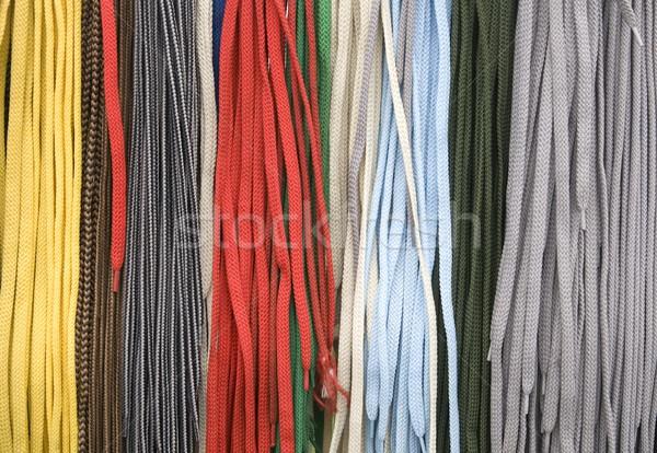 Scarpa colorato moda blu nastro Foto d'archivio © simazoran