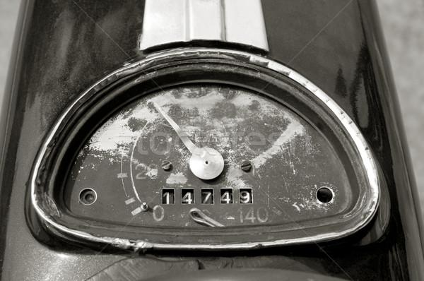Acelerar vintage motocicleta preto branco Foto stock © simazoran