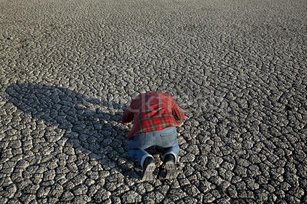 Agricultor sequía campo desesperado hombre Foto stock © simazoran