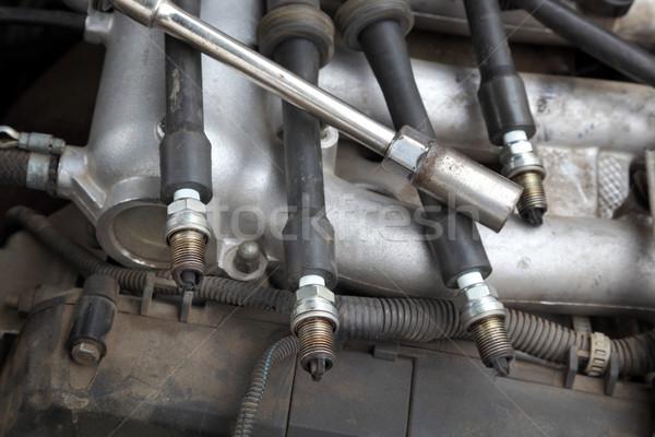 Automobilowy nowoczesne samochodu benzyny silnika narzędzie Zdjęcia stock © simazoran