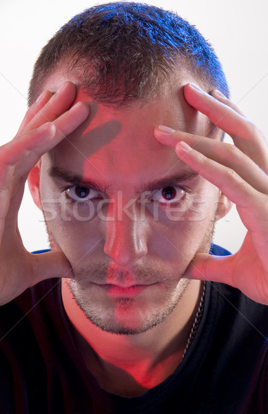 Genç stüdyo genç kafkas endişeli adam Stok fotoğraf © simazoran