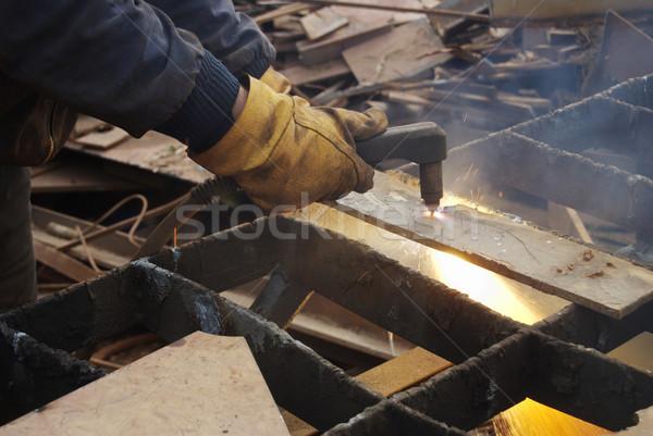 Osoczu cięcie metal recyklingu wyposażenie strony Zdjęcia stock © simazoran