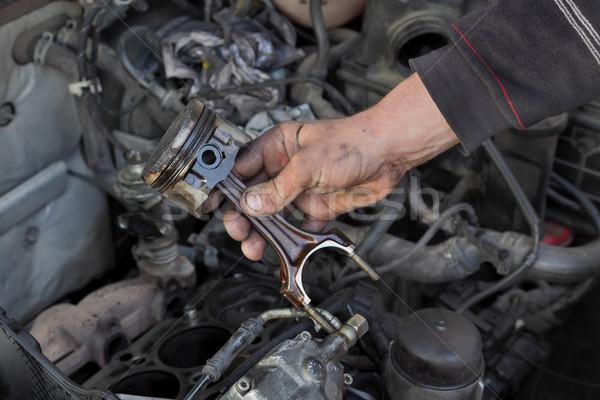 Auto motore pistone meccanico vecchio Foto d'archivio © simazoran