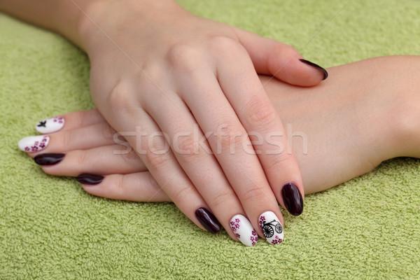 Fingernägel Hände Handtuch Finger Nagel Stock foto © simazoran
